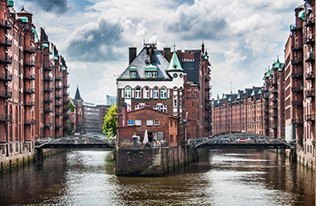 Hamburg harbour image