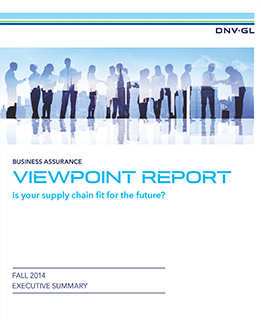 Is your supply chain fit for the future - ViewPoint report from DNV GL