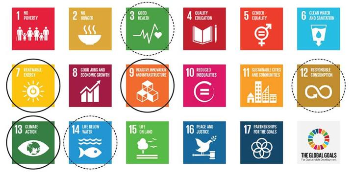 DNV GL has strong market positions or is pursuing growth opportunities for several of the UN SDGs.