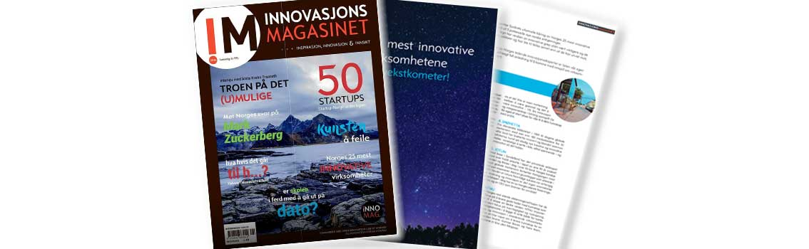 "Pages from the magazine ""Innovasjonsmagasinet"" - 25 most innovative companies"